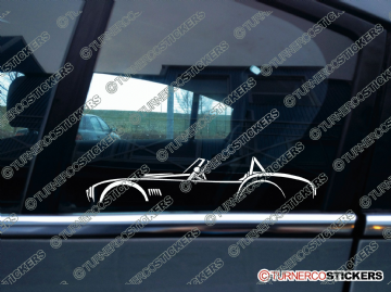 2x Car Silhouette sticker - Shelby AC Cobra classic roadster